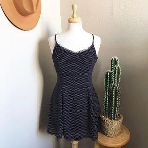Polka Dots + Lace Dress